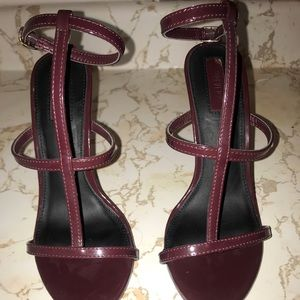 Wine straps heels from forever 21
